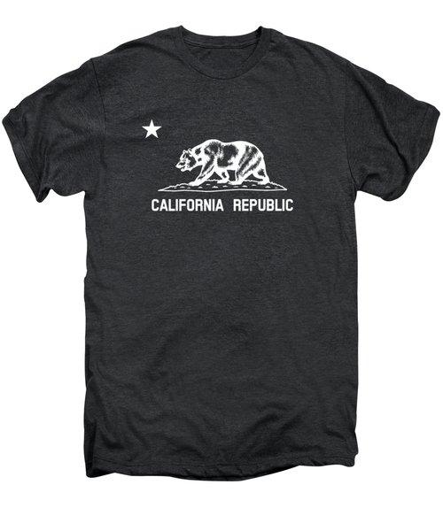 The Bear Flag - Black And White Men's Premium T-Shirt