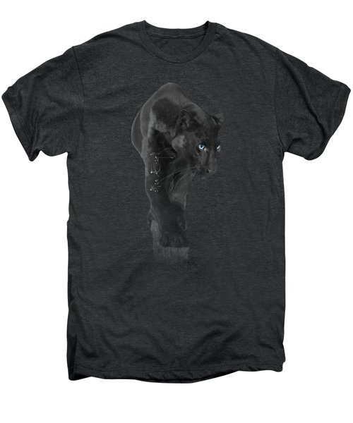Gorgeous Blue-eyed Panther Men's Premium T-Shirt