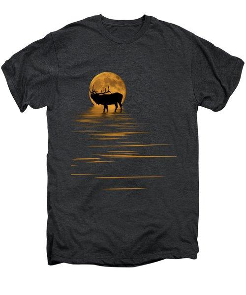 Elk In The Moonlight Men's Premium T-Shirt by Shane Bechler