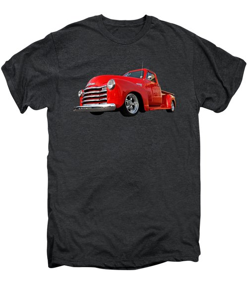 1952 Chevrolet Truck At The Diner Men's Premium T-Shirt