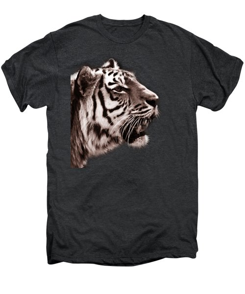 Siberian Tiger Profile Men's Premium T-Shirt by Crystal Wightman