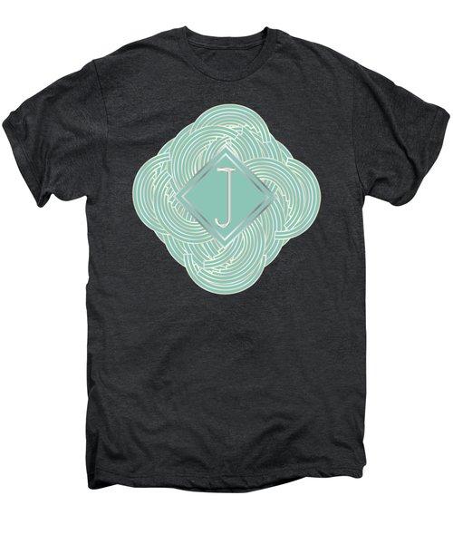 1920s Blue Deco Jazz Swing Monogram ...letter J Men's Premium T-Shirt
