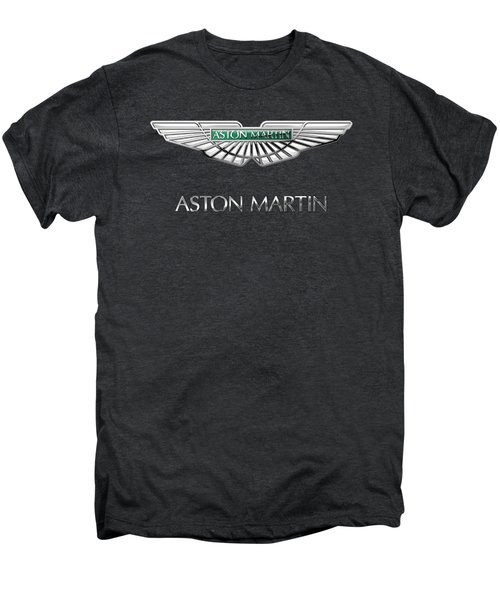 Aston Martin 3 D Badge On Black  Men's Premium T-Shirt