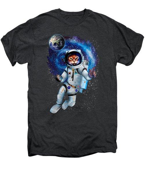 Astronaut Cat Men's Premium T-Shirt