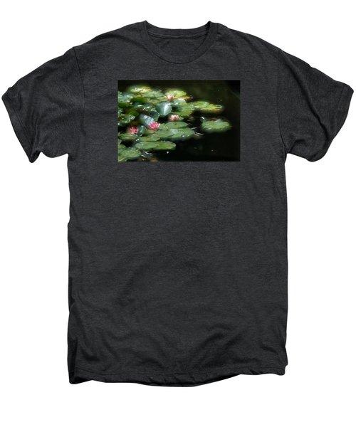 Men's Premium T-Shirt featuring the photograph At Claude Monet's Water Garden 11 by Dubi Roman