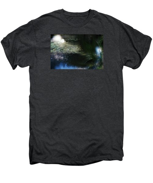 Men's Premium T-Shirt featuring the photograph At Claude Monet's Water Garden 3 by Dubi Roman