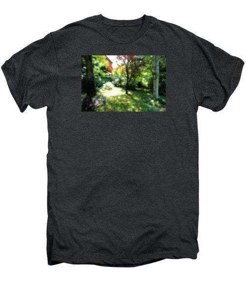 Men's Premium T-Shirt featuring the photograph At Claude Monet's Water Garden 7 by Dubi Roman