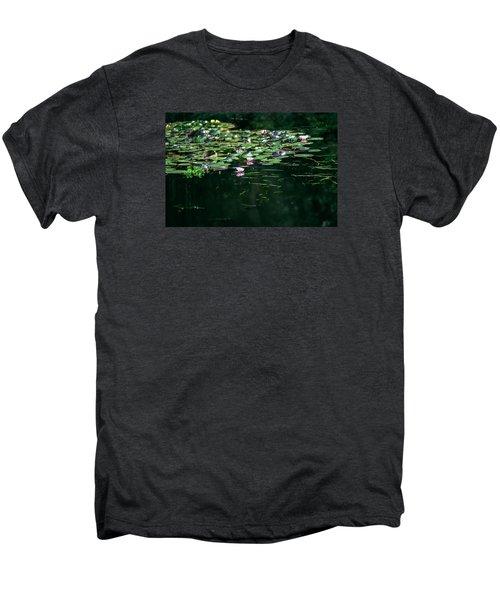 Men's Premium T-Shirt featuring the photograph At Claude Monet's Water Garden 8 by Dubi Roman