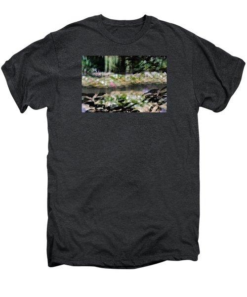 Men's Premium T-Shirt featuring the photograph At Claude Monet's Water Garden 9 by Dubi Roman