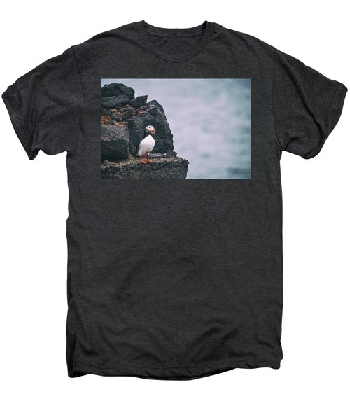 Atlantic Puffin Men's Premium T-Shirt by Happy Home Artistry