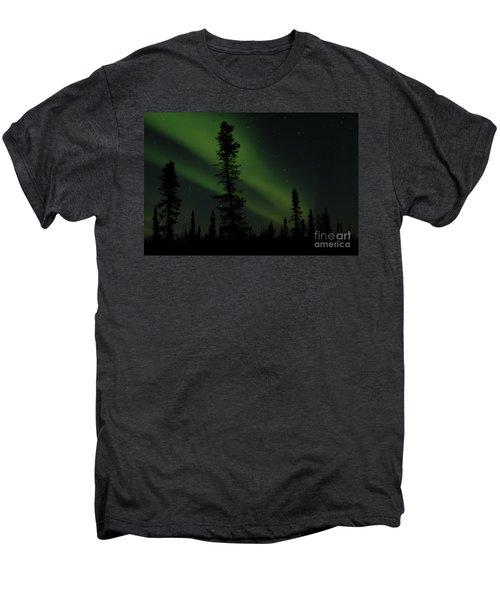Aurora Borealis The Northern Lights Interior Alaska Men's Premium T-Shirt by Sharon Mau