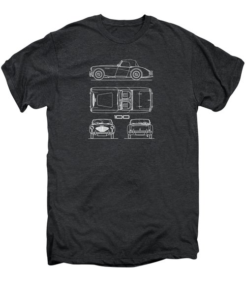 Austin Healey 100 Blueprint Men's Premium T-Shirt