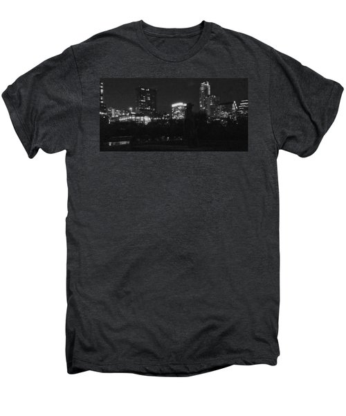 Austin Hike And Bike Trail - Srv Gritty Austin Night Panorama Men's Premium T-Shirt