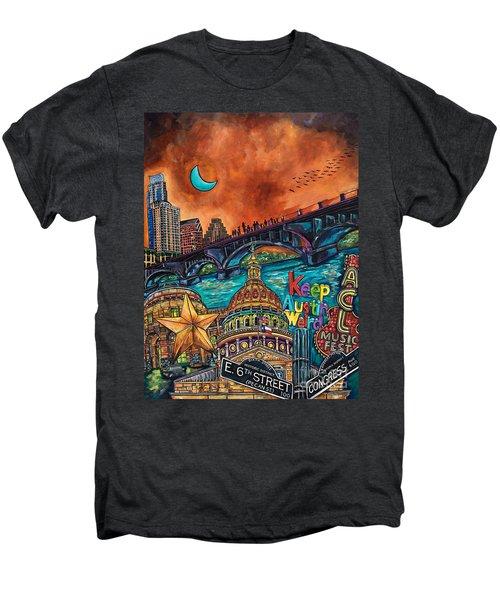 Austin Keeping It Weird Men's Premium T-Shirt by Patti Schermerhorn