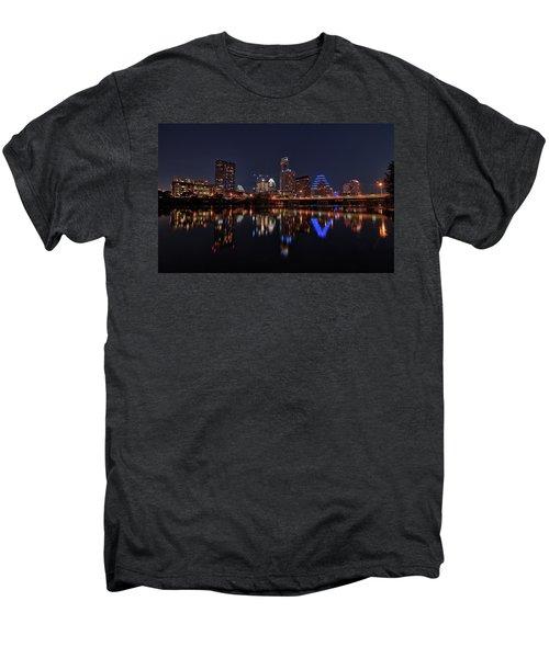 Austin Skyline At Night Men's Premium T-Shirt by Todd Aaron