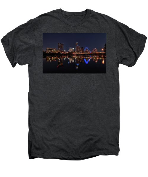 Austin Skyline At Night Men's Premium T-Shirt