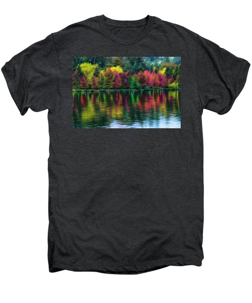 Men's Premium T-Shirt featuring the photograph Autumn At Green Lake Seattle by Yulia Kazansky