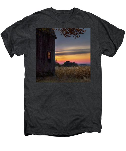 Men's Premium T-Shirt featuring the photograph Autumn Glow Square by Bill Wakeley