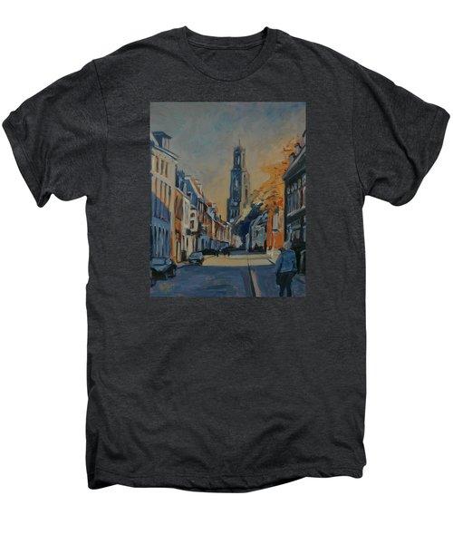 Autumn In The Lange Nieuwstraat Utrecht Men's Premium T-Shirt by Nop Briex