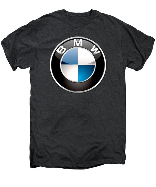 B M W  3 D Badge On Black Men's Premium T-Shirt