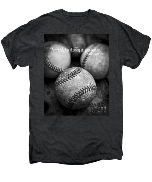 Babe Ruth Quote Men's Premium T-Shirt by Edward Fielding