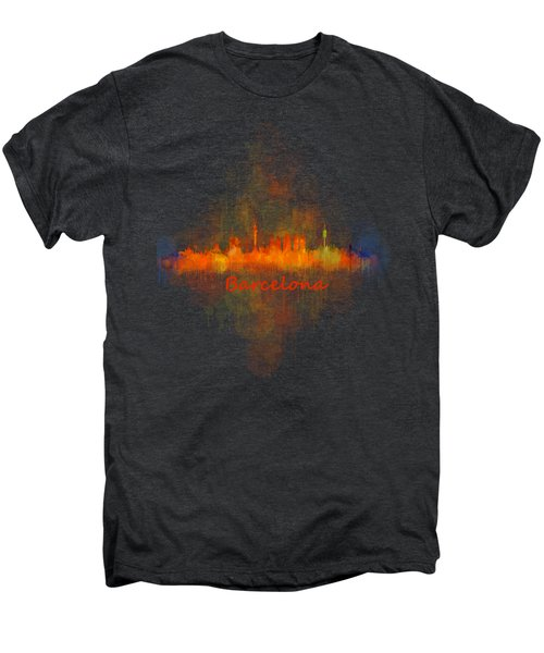 Barcelona City Skyline Uhq _v4 Men's Premium T-Shirt