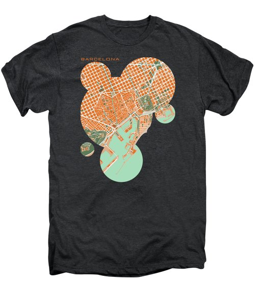 Barcelona Orange Men's Premium T-Shirt