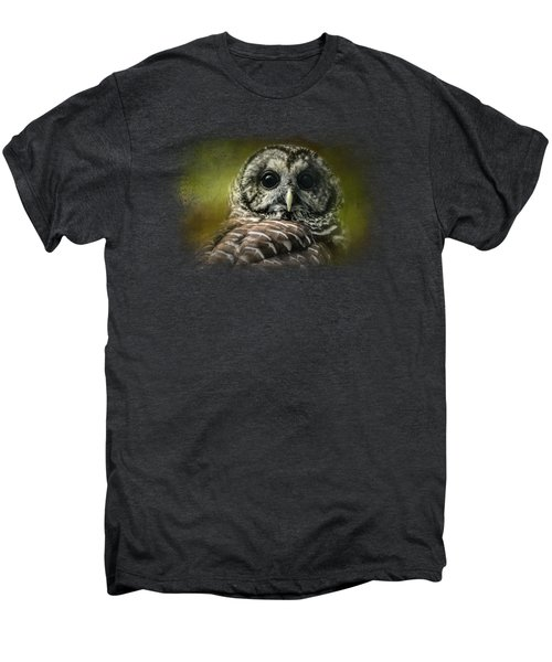 Barred Owl In The Grove Men's Premium T-Shirt by Jai Johnson