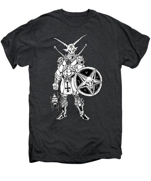 Battle Goat Black Men's Premium T-Shirt by Alaric Barca