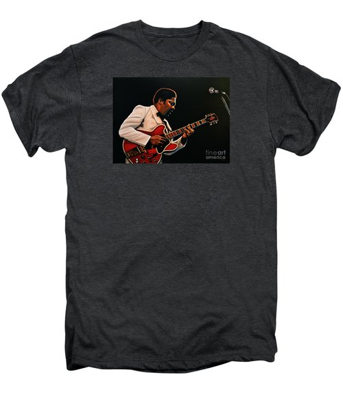 B. B. King Men's Premium T-Shirt by Paul Meijering