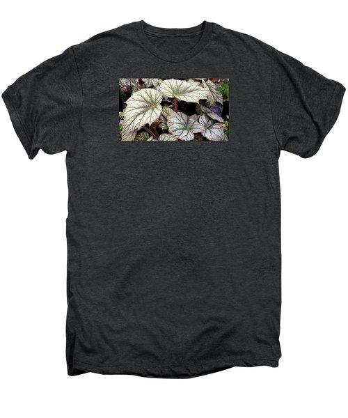 Big Begonia Leaves Men's Premium T-Shirt by Nareeta Martin