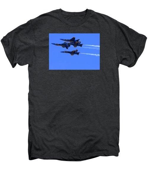 Blue Angels Perform Over San Francisco Bay Men's Premium T-Shirt