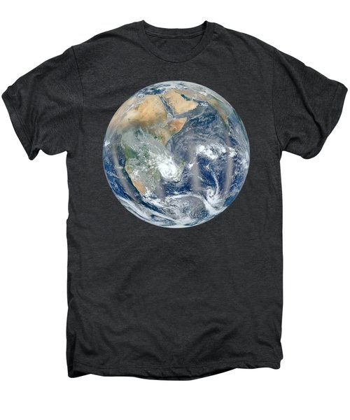 Blue Marble 2012 - Eastern Hemisphere Of Earth Men's Premium T-Shirt by Nikki Marie Smith