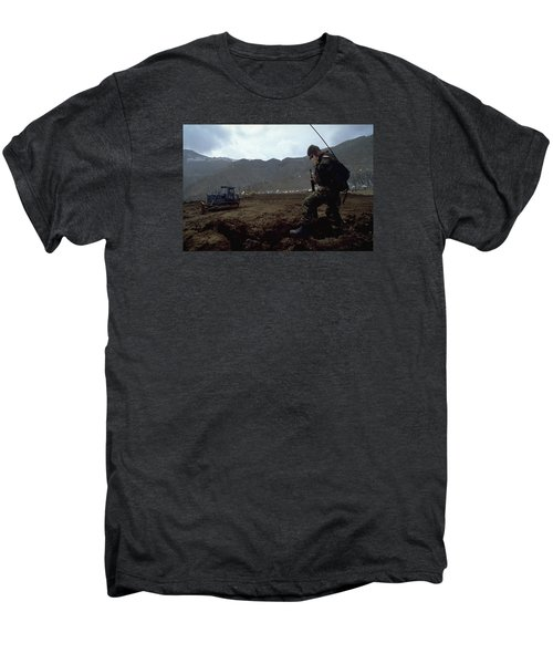 Men's Premium T-Shirt featuring the photograph Boots On The Ground by Travel Pics