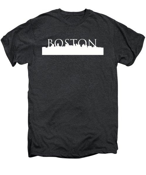 Boston Skyline Outline Logo 2 Men's Premium T-Shirt by Joann Vitali