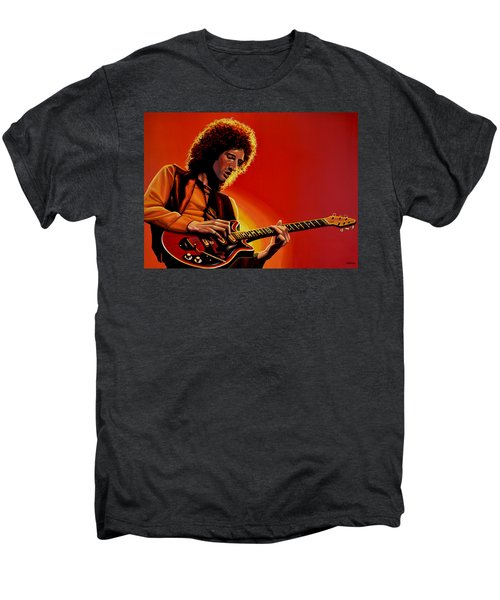 Brian May Of Queen Painting Men's Premium T-Shirt