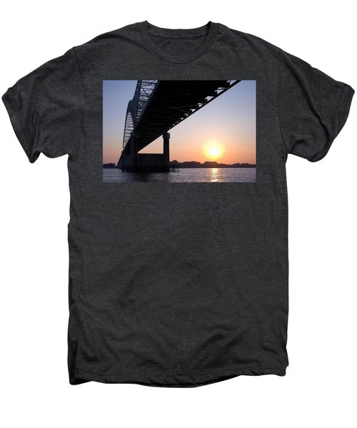 Bridge Over Mississippi River Men's Premium T-Shirt
