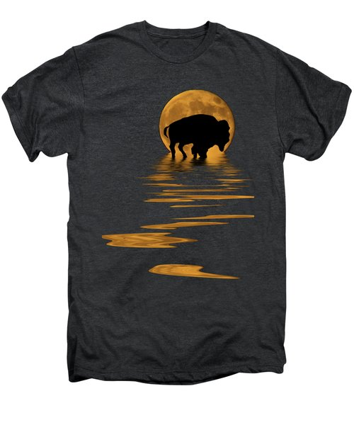 Buffalo In The Moonlight Men's Premium T-Shirt by Shane Bechler