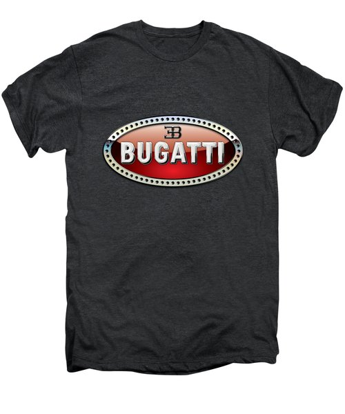 Bugatti - 3 D Badge On Black Men's Premium T-Shirt