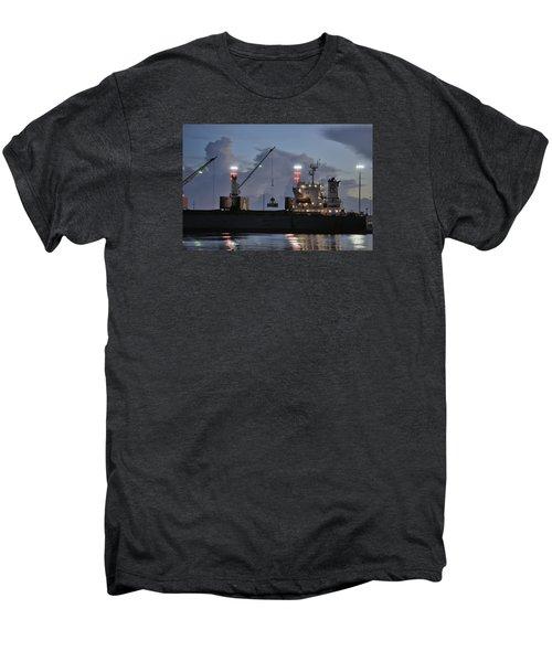 Bulk Cargo Carrier Loading At Dusk Men's Premium T-Shirt