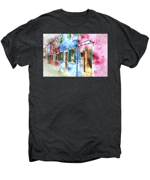 Burano Italy Buildings Men's Premium T-Shirt