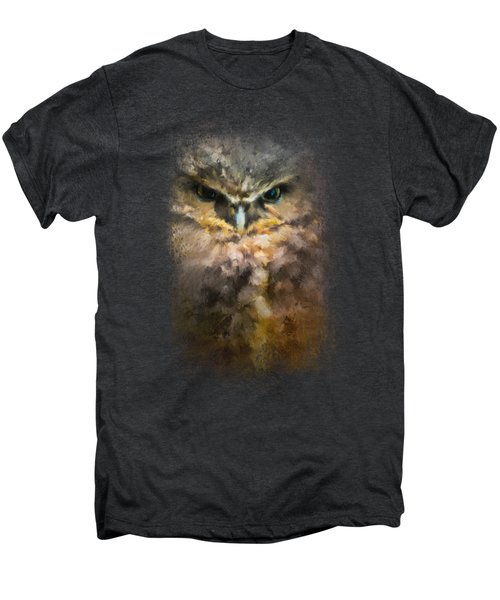 Burrowing Owl Men's Premium T-Shirt by Jai Johnson