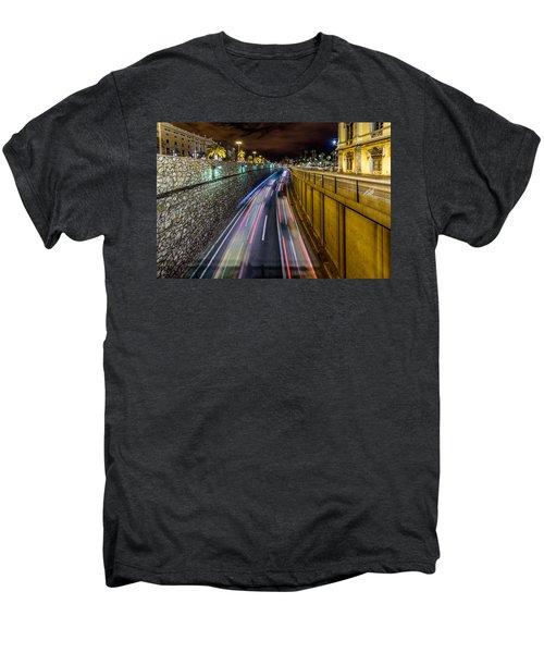 Busy Night In Barcelona Men's Premium T-Shirt by Randy Scherkenbach