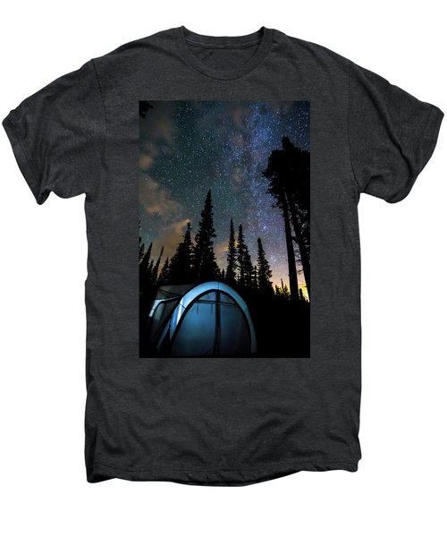Men's Premium T-Shirt featuring the photograph Camping Star Light Star Bright by James BO Insogna