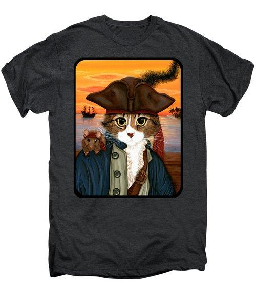 Captain Leo - Pirate Cat And Rat Men's Premium T-Shirt