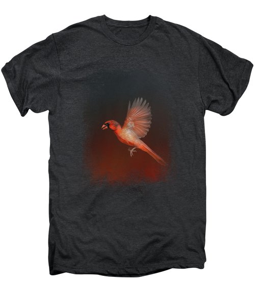 Cardinal 1 - I Wish I Could Fly Series Men's Premium T-Shirt by Jai Johnson