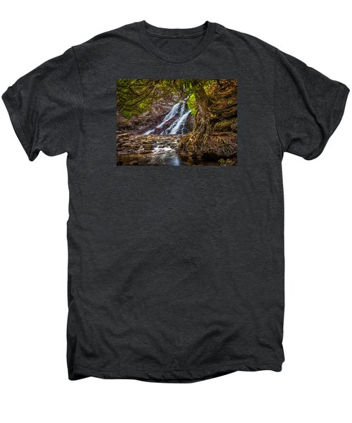 Men's Premium T-Shirt featuring the photograph Caribou Falls In Fall by Rikk Flohr