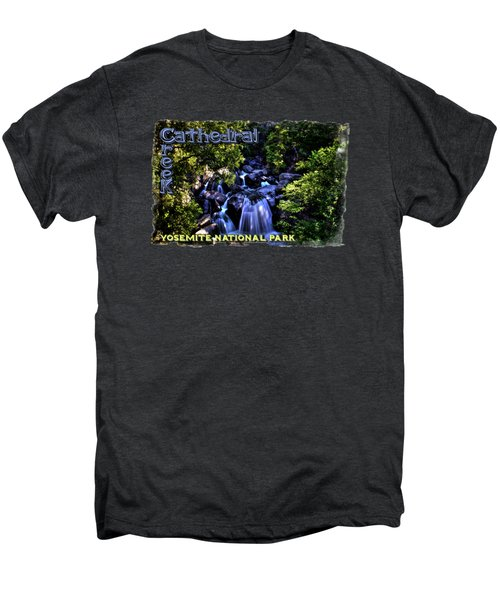 Cathedral Creek Cascade On The Tioga Pass Men's Premium T-Shirt by Roger Passman