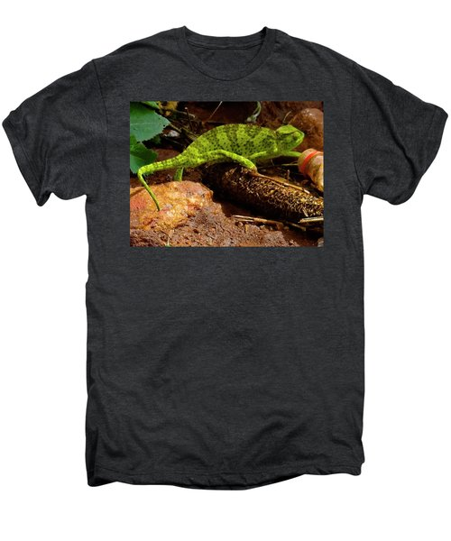 Chameleon Struts His Stuff Men's Premium T-Shirt by Exploramum Exploramum