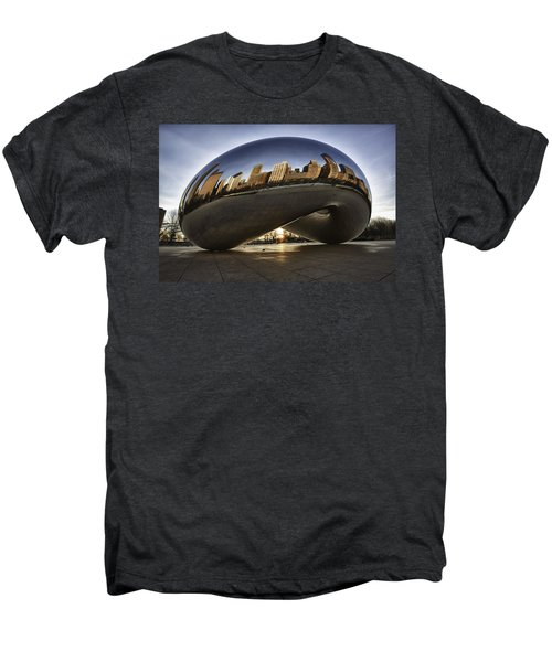 Chicago Cloud Gate At Sunrise Men's Premium T-Shirt